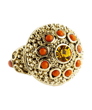 The Limited Textured Sunflower ring