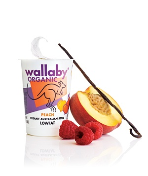 Wallaby Organic Lowfat Peach Yogurt