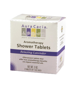 Aura Cacia Relaxing Lavender shower tablets