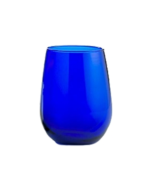 Libbey Cobalt stemless wine glass