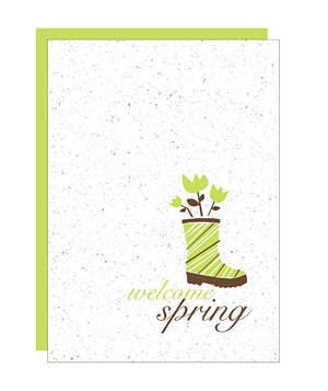 Botanical Paperworks Plantable Welcome Spring card