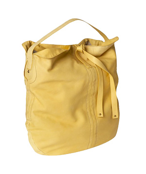 The Gap pale yellow Self-Tie Leather Hobo