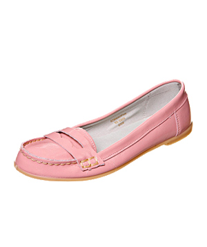 Topshop's pink Morris Patent Loafers