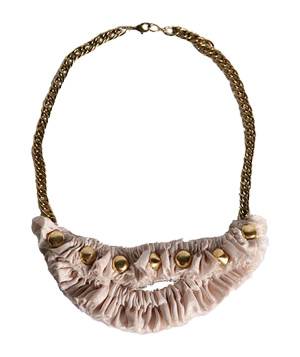 Candace Ang Super Candy Studded Satin Necklace