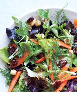 Mesclun Salad With Chickpeas and Dried Cherries