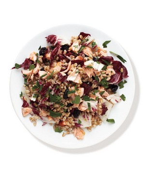 Salmon, Radicchio, and Farro Salad