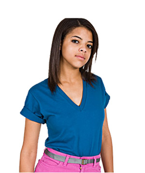 American Apparel Organic Short Sleeve V-Neck