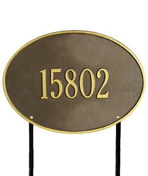 Home Decorators Collection Oval Lawn Address Plaque