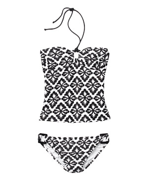 Shoshanna black and white tankini
