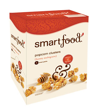 Smartfood popcorn clusters in honey multigrain