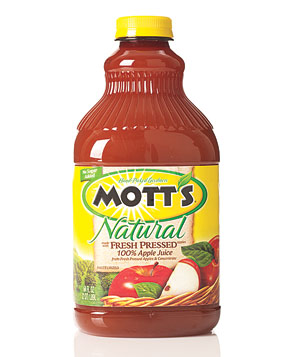 Mott's Natural Fresh-Pressed Apple juice