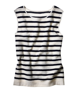 Club Monaco striped cotton knit top