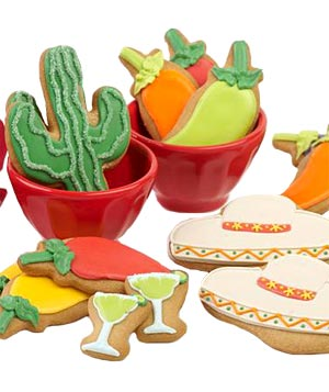 Eleni's Mexican Fiesta frosted cookies