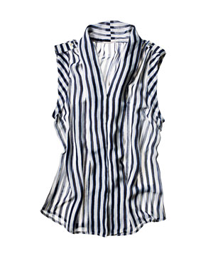 Forever 21 striped polyester top