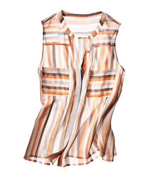 Joie striped silk tank