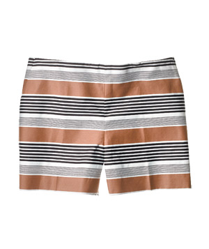 Loft striped cotton shorts