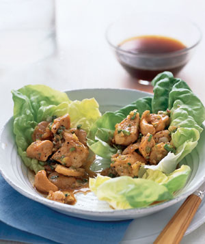 Chicken and Cashews in Lettuce Wraps
