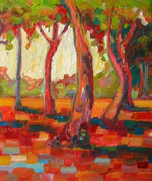 "Painting titled ""Forest"" by Comusina Hardman on Affordable Art Fair"
