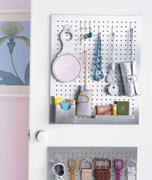 Use Pegboards to Create a Mini Dressing Station
