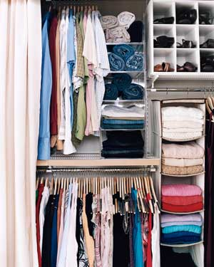 How To Organize Closet inspirational closets | real simple