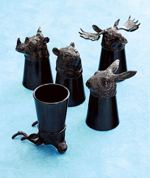 Molla Space animal shot glasses