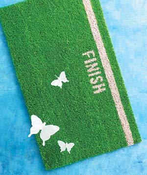 Finish-line doormat