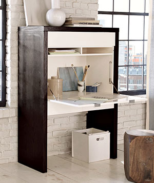 You can create a home office with minimal fuss; all you need is enough work space to get your job done.