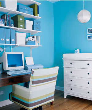 Home office within the nursery