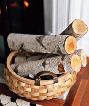 Firewood in a basket