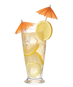 Lemonade with an orange umbrella
