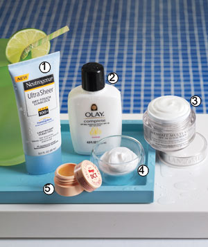 Skin care sun protection products for the face