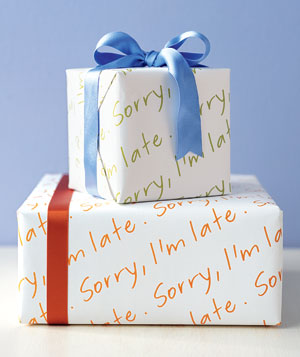 Creative gift wrapping ideas real simple belated gift negle Choice Image