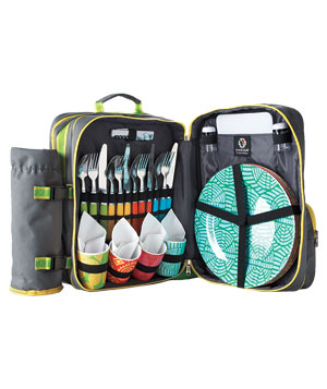 French bull backpack picnic set