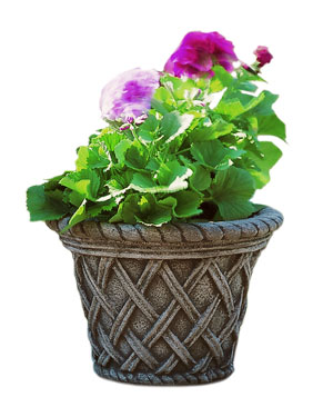 English-weave design small garden planter