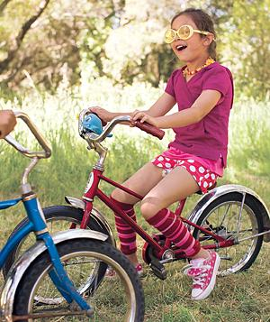 Give a child the taste of freedom that comes with a bike.