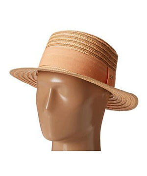 BCBGeneration Striped Boater Hat