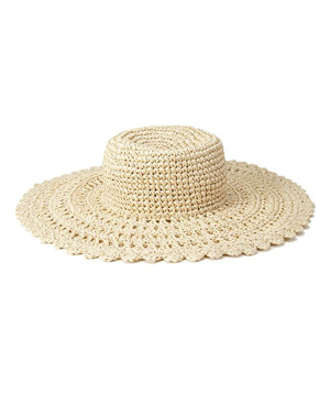 Forever 21 Scalloped Straw Sun Hat