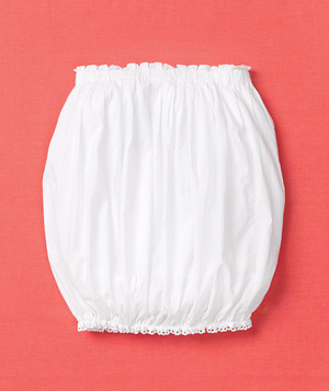 White bubble skirt