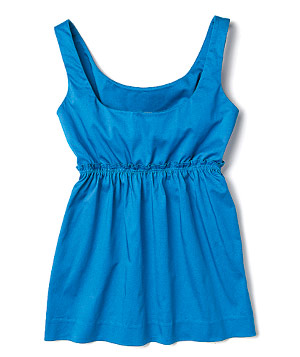 Blue scoop-neck tank top