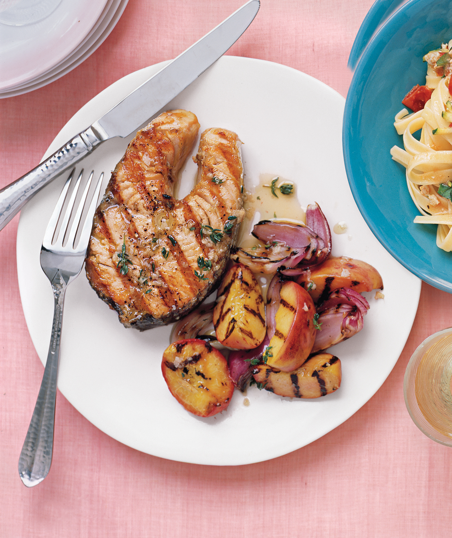 Gingery Salmon Recipe With Peaches