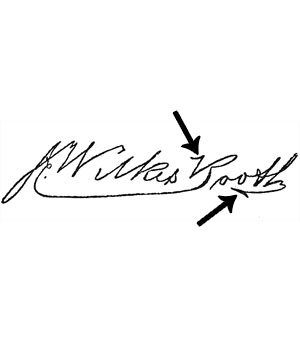John Wilkes Booth's signature