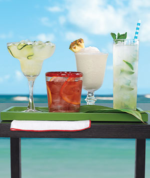 4 tropical cocktails