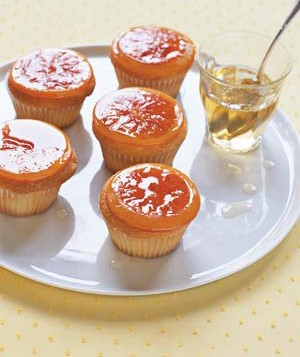 Candied citrus covered cupcakes