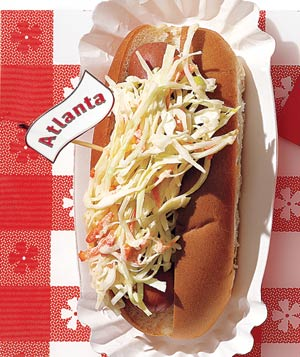 Atlanta hot dog with coleslaw