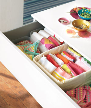 Open dresser drawer