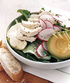 Arugula Salad With Chicken and Avocado