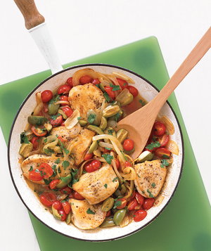 Golden Chicken With Tomatoes and Olives