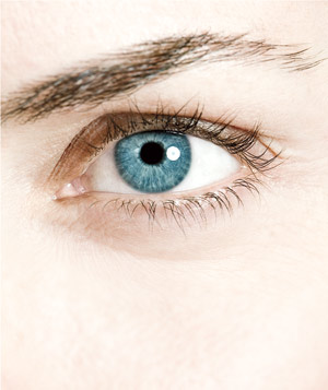 Blue eye close-up