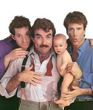 """Three Men and a Baby"" film still"