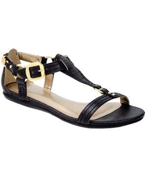 Fred Flare Black Gold Chain sandals